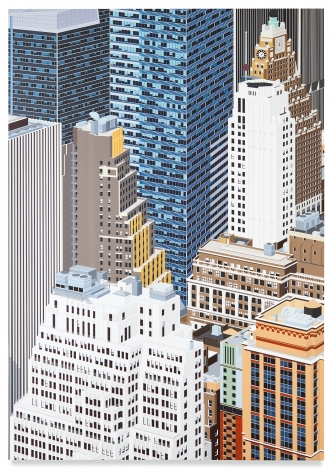 Midtown, NYC, 2020, Acrylic on dibond, 78 3/4 x 55 inches, 200 x 140 cm, MMG#32188
