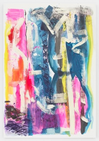 Untitled, 2016, Mixed media on paper mounted to aluminum, 71 x 49 inches, 180.3 x 124.5 cm, MMG#28108
