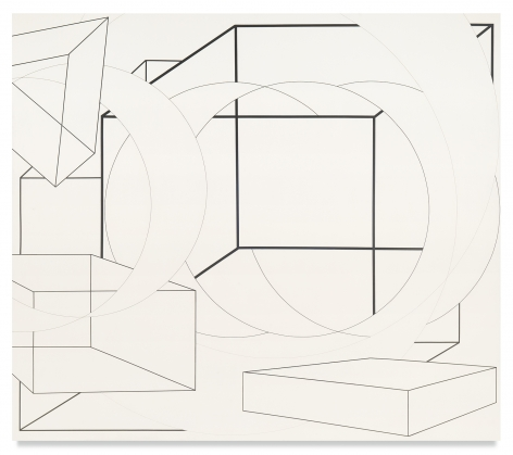 Al Held, South-Southeast, 1973, Acrylic on canvas, 84 x 96 inches, 213.4 x 243.8 cm, MMG#16237