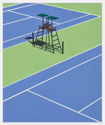 Empty Courts, Queens, NY, 2020, Acrylic on dibond, 18 1/2 x 15 3/4 inches, 47.5 x 39.5 cm, MMG#32241