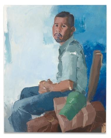 John Sonsini, Francisco, 2018, Oil on canvas, 45 x 36 inches, 114.3 x 91.4 cm