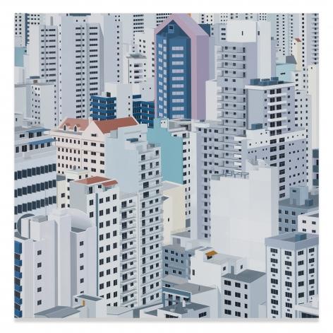 Daniel Rich, São Paulo, 2019, Acrylic on Dibond, 59 1/8 x 59 1/8 inches, 150.2 x 150.2 cm, MMG#31303
