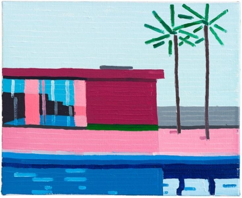 Guy Yanai, House, 2014, Oil on linen, 14 1/2 x 11 3/4 inches, 37 x 30 cm, A/Y#22004