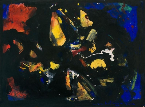 """Shapes in Black,"" 1944, Oil on panel, 30 1/2 x 41 inches, 77.5 x 104.1 cm, A/Y#9803"