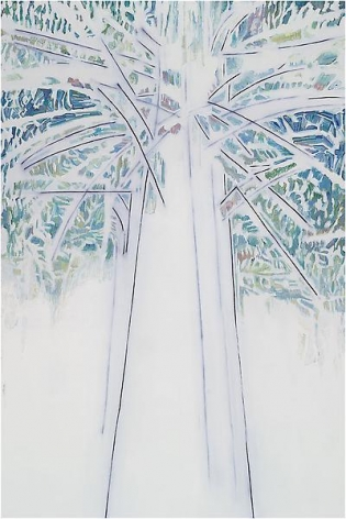 """629 (Tree),"" 2012, Oil on linen, 90 x 60 inches, 228.6 x 152.4 cm, A/Y#20581"