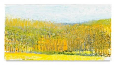 Orange Barn, Half Hidden, 2016, Oil on canvas, 36 x 68 inches, 91.4 x 172.7 cm, AMY#28090