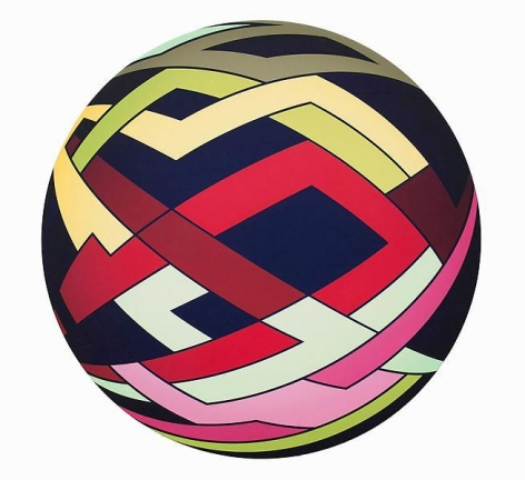 """""""Tingles,"""" 2011, Acrylic on canvas, 23 inches in diameter, 58.4 cm, A/Y#19980"""