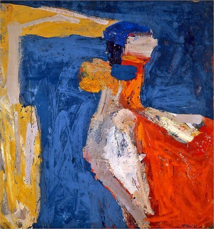 "George McNeil, ""Asphodel,"" 1962, Oil on linen, 78 x 72 inches, 198.1 x 182.9 cm, A/Y#16003"
