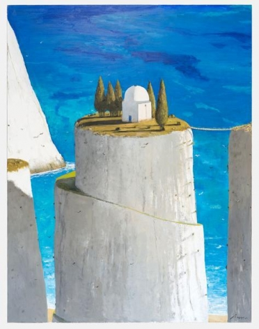 Julio Larraz, The Warlock's Lair, 2014, Oil on canvas, 78 x 60 inches, 198.1 x 152.4 cm, A/Y#21633