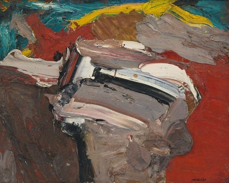 "George McNeil, ""Landscape Motif,"" 1968, Oil on panel, 12 x 15 inches, 30.5 x 38.1 cm, A/Y#17725"