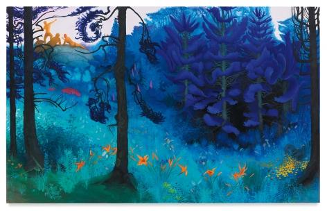 Blue Spruce, 2020, Enamel on canvas, 50 x 80 inches, 127 x 203.2 cm, (MMG#32317)