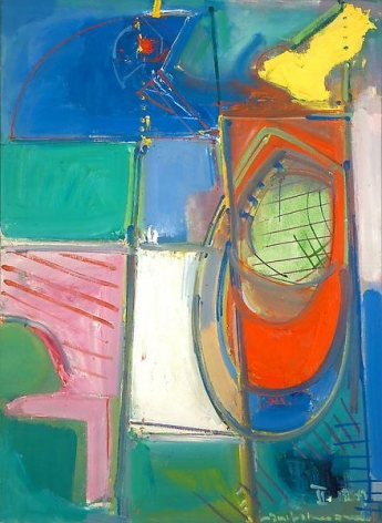 """Muted Abstraction,"" 1947, Oil on canvas, 41 x 30 inches, 104.1 x 76.2 cm, A/Y#4162"