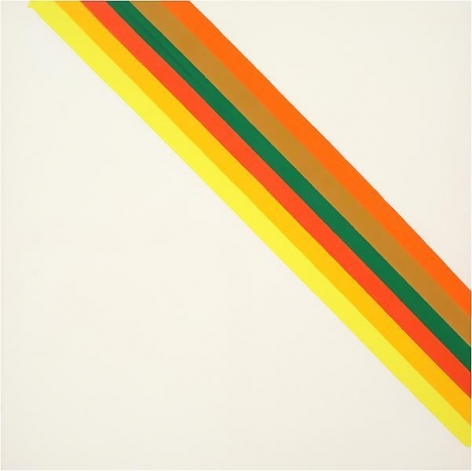 Hot Half, 1962, Acrylic on canvas, 63 1/8 x 63 1/4 inches, 160.3 x 160.7 cm, MMG#16056
