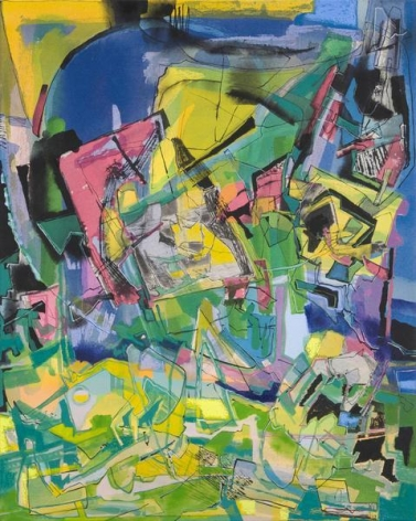 Iva Gueorguieva, Ruse, 2014, Acrylic, collage, and oil on canvas, 29 x 23 inches, 73.7 x 58.4 cm, A/Y#22162