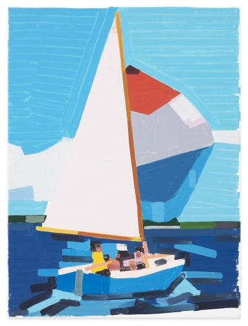 Sailing Back to Land, 2020, Oil on canvas, 15 3/4 x 11 7/8 inches, 40 x 30 cm,MMG#32650