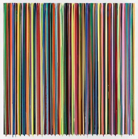Markus Linnenbrink, DAYSBETWEENSTATIONS, 2016, Epoxy resin and pigments on wood, 36 x 36 inches, 91.4 x 91.4 cm, AMY#28388