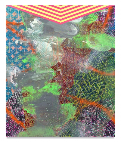 Sublimation, 2020, Mixed media on wood panel, 72 x 59 3/4 inches, 182.9 x 151.8 cm