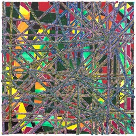 Steven Charles, piblye, 2014, Acrylic on wood, 12 x 12 inches, 30.5 x 30.5 cm, A/Y#21951