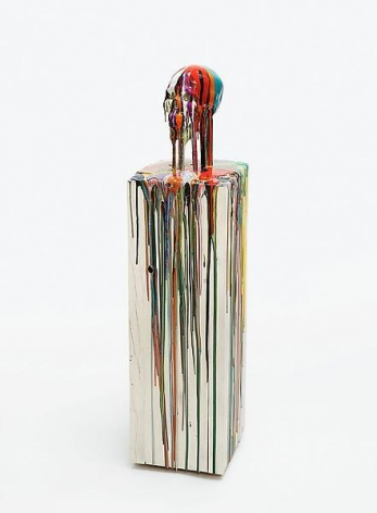 """OHNEWORTE(WITHOUTWORDS),"" 2012, Pigments and epoxy resin on life size resin skull, 53 x 13 x 13 inches, 134.6 x 33 x 33 cm, A/Y#20429"