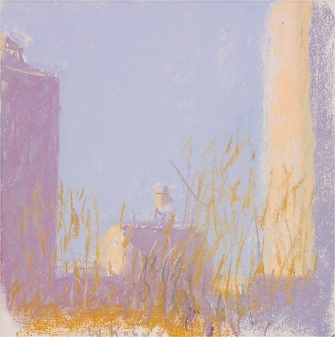 """Over the Tops of Trees at Stuyvesant Park,"" 2003, Pastel on paper, 12 x 12 inches, 30.5 x 30.5 cm, A/Y#9615"