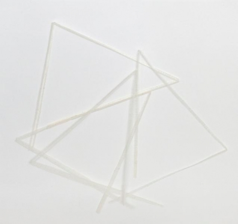 Untitled, 2013, Cotton cloth on paper, 17 x 17 inches, 43.2 x 43.2 cm, A/Y#22064