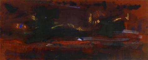 HELEN FRANKENTHALER, Tar, 1979, Acrylic on canvas, 45-3/4 x 112 inches, 116.2 x 284.5 cm, A/Y#1033