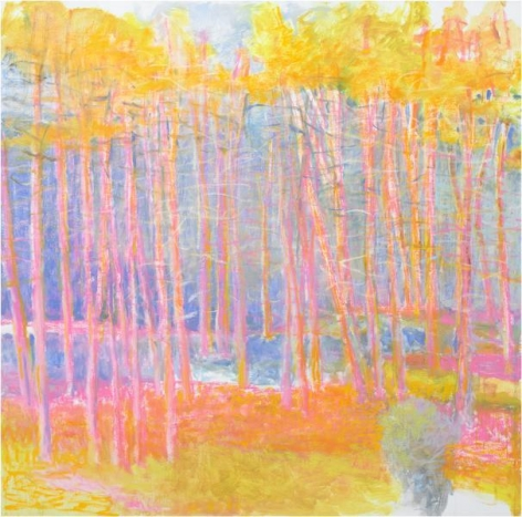 Wolf Kahn, Quarter Mile View, 2014, Oil on canvas, 64 x 64 inches, 162.6 x 162.6 cm, A/Y#21565
