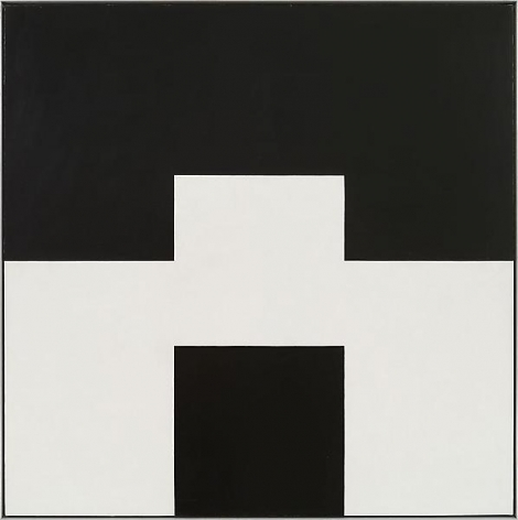 """""""Altered ego,"""" 1971, Oil on linen, 44 x 44 inches, 111.8 x 111.8 cm, A/Y#13534"""