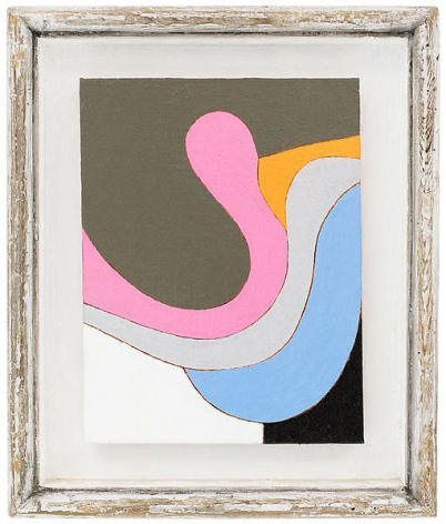 """""""All in favor,"""" 1991 #9, Oil on linen, framed: 11 7/8 x 10 inches, 30.2 x 25.4 cm, A/Y#19698"""