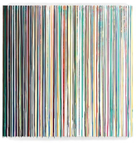 Markus Linnenbrink, HELPMEFINDMYPROPERPLACE, 2013, Epoxy resin and pigments on wood, 72 x 72 inches, 182.9 x 182.9 cm, A/Y#21344