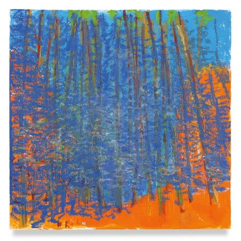 Wolf Kahn, Deep Blue Curve, 2019, Oil on canvas