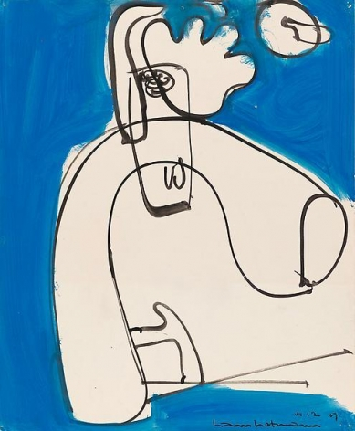 Untitled, 1947, Gouache on paper, 17 x 14 inches, 43.2 x 35.6 cm, A/Y#15079
