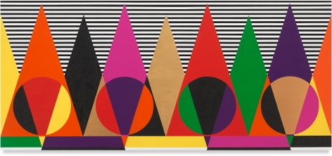 Untitled (Young Mystics), 2020, Acrylic paint on wood, 36 x 80 inches, 91.4 x 203.2 cm,MMG#32457