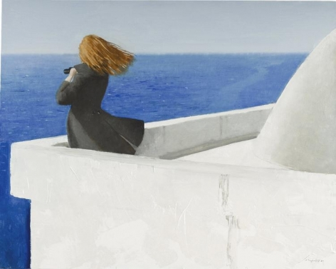 Julio Larraz, The First Day of the Year, 2014, Oil on canvas, 40 x 50 inches, 101.6 x 127 cm, A/Y#21637