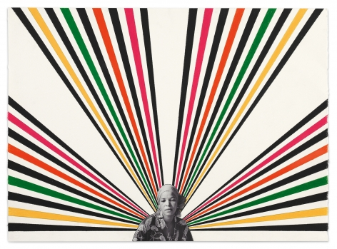 Ntozake, 2020, Color pencil and photograph collage on paper, 22 1/8 x 30 3/8 inches, 56.2 x 77.2 cm,MMG#32526
