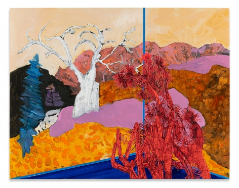 Whitney Bedford, Veduta (Avery/Tree) 2020, Ink and oil on panel, 24 3/8 x 31 1/2 inches, 62 x 80 cm, MMG#32382, Photo cred: Evan Bedford