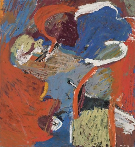"George McNeil, ""Lenox,"" 1960, Oil on canvas, 72 x 66 inches, 182.9 x 167.6 cm, A/Y#19772"