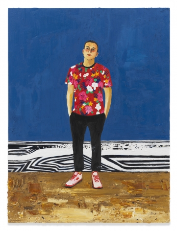 Edgar, 2019, Oil on canvas, 48 x 36 inches, 121.9 x 91.4 cm, MMG#31942