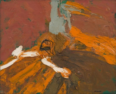 "George McNeil, ""Landscape Motif,"" 1968, Oil on panel, 13 x 16 1/8 inches, 33 x 41 cm, A/Y#17722"
