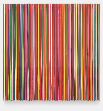 Markus Linnenbrink, TRITTBRETTEAHRER(RED), 2014, Epoxy resin and pigments on wood, 60 x 60 inches, 152.4 x 152.4 cm, A/Y#22164