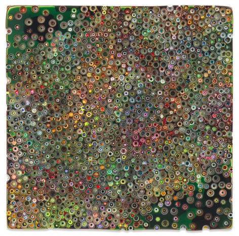 WILDWINDWORKSONG, 2019,Epoxy resin and pigments on wood,60 x 60 inches,152.4 x 152.4 cm,MMG#31592