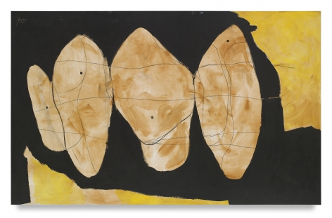 Robert Motherwell, Hollow Men Series, 1989, Acrylic and charcoal on canvas, 60 x 96 inches, 152.4 x 243.8 cm, MMG#18983,