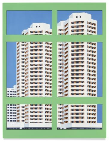 Nostalgia of the Infinite (Green Window), 2019,Acrylic on dibond,61 1/2 x 47 1/4 inches, 156 x 120 cm, MMG#32143