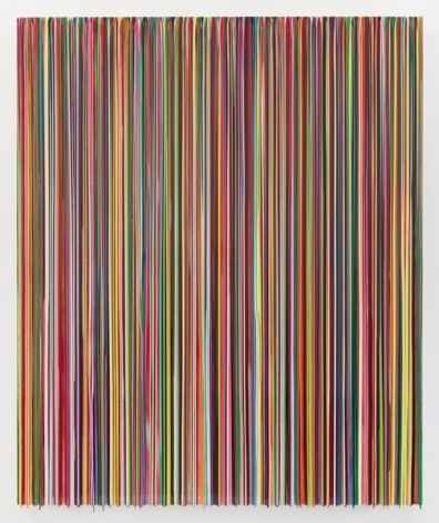 IGOTTOKEEPMETHERE(AWAKEONATRAIN), 2015, Epoxy resin and pigments on wood. 72 x 60 inches, 182.9 x 152.4 cm, AMY#22622
