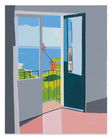 Salina Balcony, 2019,Oil on canvas,59 x 47 1/4 inches,150 x 120 cm,MMG#31536