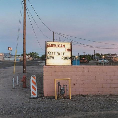 """""""American Inn,"""" 2011, Acrylic on panel, 6 x 6 inches, 15.2 x 15.2 cm, A/Y#19883"""