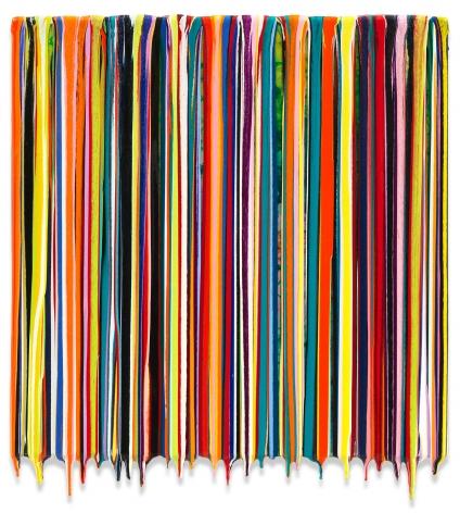 Markus Linnenbrink, WEAREOUROPPOSITES, 2019, Epoxy resin and pigments on heat-treated artist grade birch plywood, 17 x 17 inches