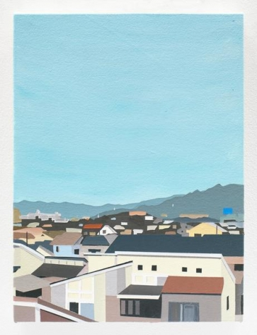 View from Emi's House, 2016, Acrylic on canvas, 12 x 9 inches, 30.5 x 22.9 cm, AMY#28124