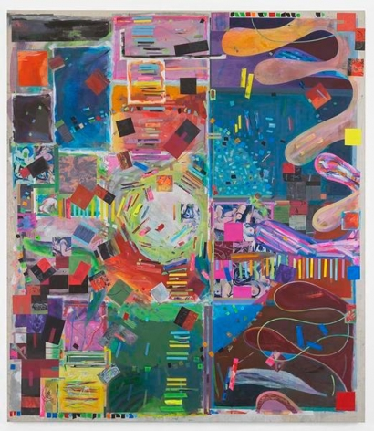 spacehighlight, 2016, Acrylic on canvas, 87 3/4 x 76 1/2 inches, 222.9 x 194.3 cm, MMG#29159