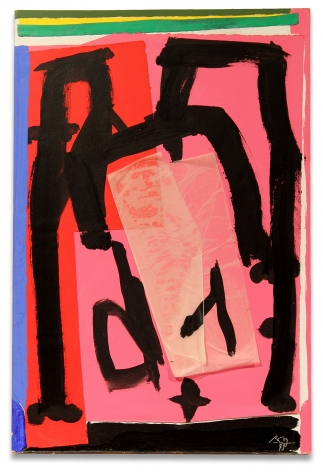 Robert Motherwell, Mexican Collage, 1979, Acrylic and pasted papers on canvas mounted on board, 35 x 23 inches, 88.9 x 58.4 cm, MMG#30415,
